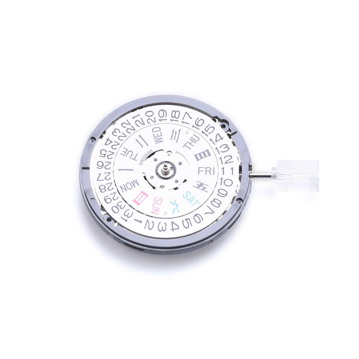 自動機械式ムーブメント & ステム-ハッキング & ハンド巻セイコー服部 NH36Double カレンダー時計ムーブメント交換