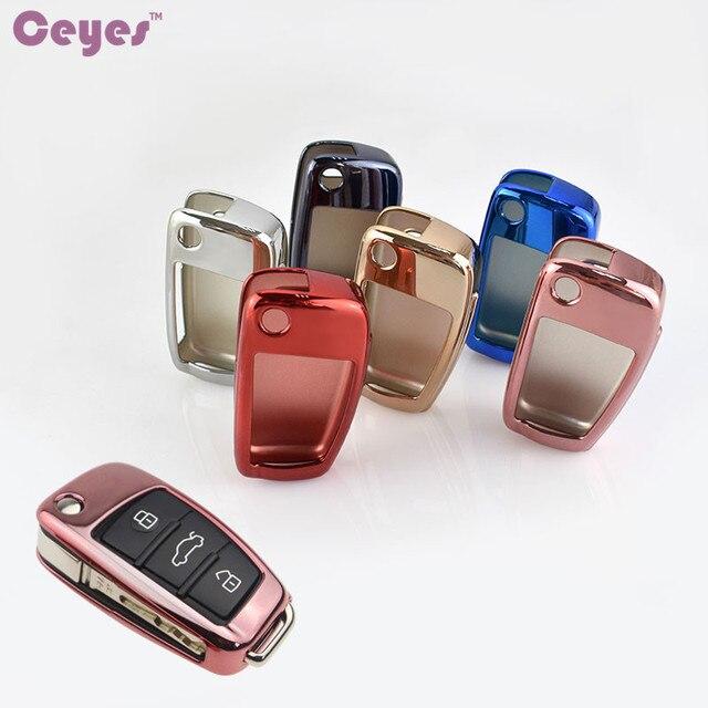 Ceeyes funda protectora de TPU suave para coche, carcasa protectora para Audi S8, A6, A6L, Q5, S5, S7, A4, A4L, A5