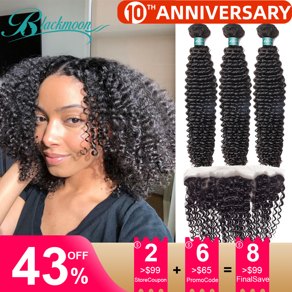 Afro Kinky Curly Bundles With Closure Frontal Mongolian Kinky Curly Human Hair Bundles With Closure Frontal Natural Tissage