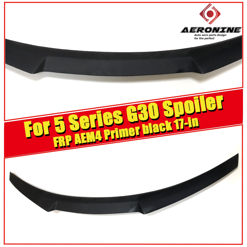 <font><b>G30</b></font> 5 Series Sedan&M5 FRP Unpainted Trunk Spoiler Wing M4 Style For BMW <font><b>G30</b></font> <font><b>520i</b></font> 530i 535iGT Duckbill Rear wings Spoiler 2017-in image