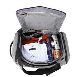 Image 5 - Men Travel Bag Anti Theft Password lock Waterproof Shoulder Weekend Travelling Duffle Bags Large Capacity Carry on Luggage Bag