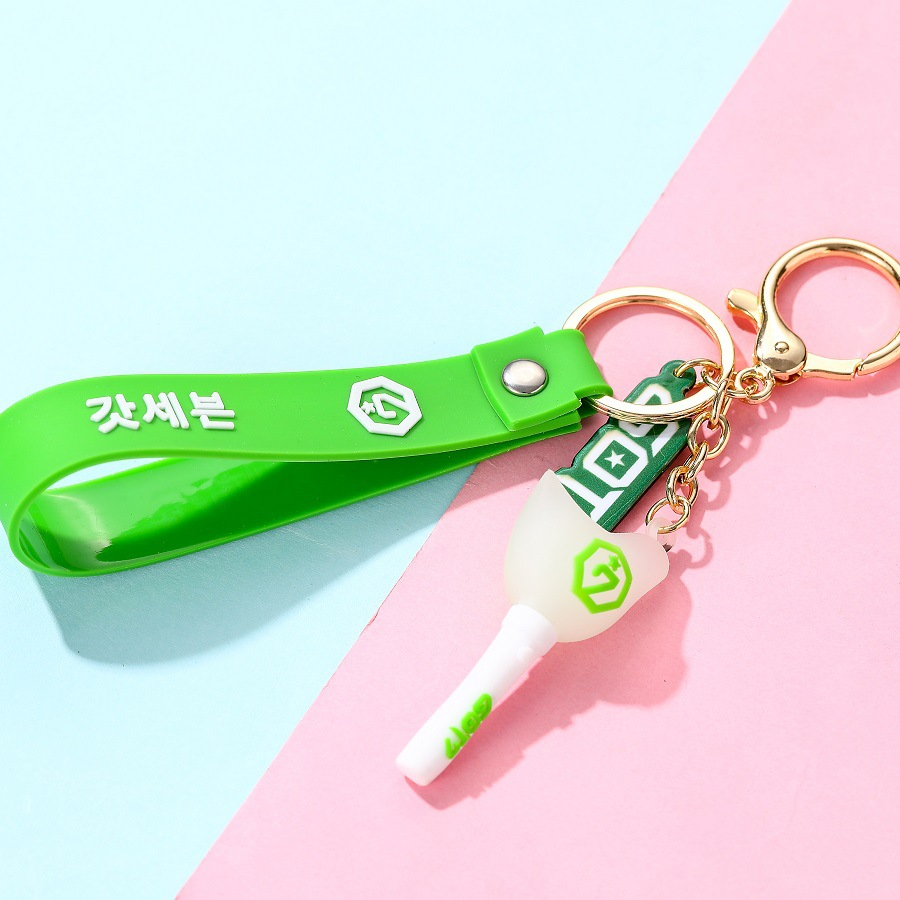 Kpop Keychain (BTS, BLACKPINK, TWICE & NCT ) with Pendant Light