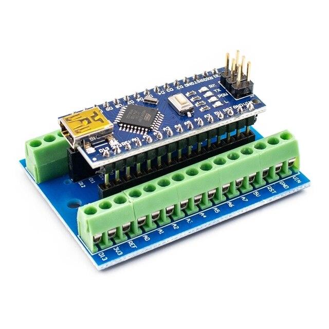 1 個のナノ V3.0 3.0 コントローラ端子アダプタ拡張ボードナノ IO シールドシンプルな延長プレート Arduino の Avr ATMEGA328P