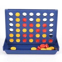 1 conjunto conectar 4 em uma linha jogo de tabuleiro brinquedos educativos das crianças para o entretenimento dos esportes do miúdo venda quente