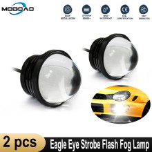 2pcs Dell'automobile Ha Condotto La Luce Esterna di Pesce Led di Eagle Eye Automobile Strobe Flash Lampada Della Nebbia Daytime Corsa E Jogging Luci DRL Moto faro(China)