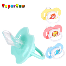 2PCS Cute Cartoon Baby Pacifier Safe Newborn Infant Toddlers Silicone Nipple Soother Anti-dust Lid Teether