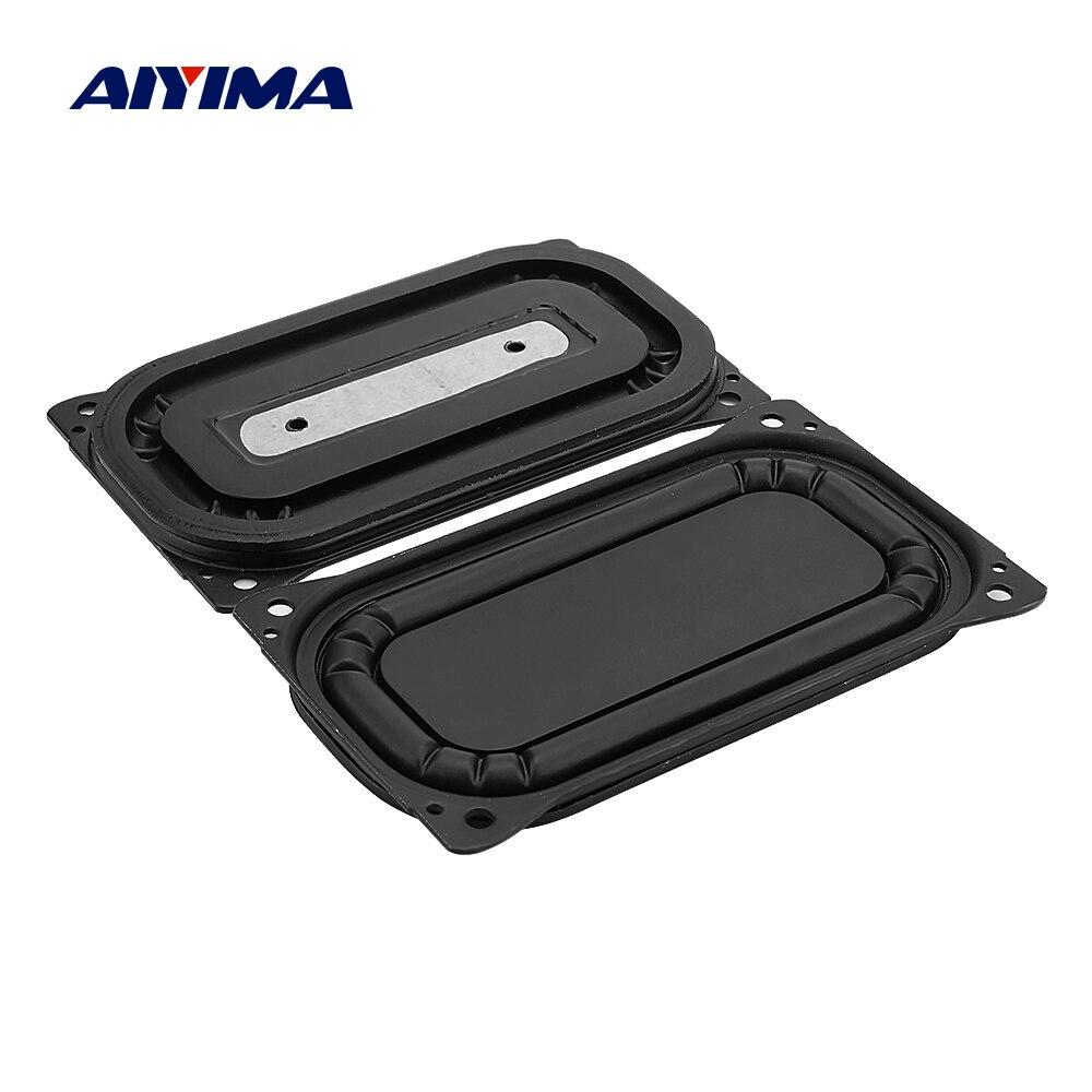 AIYIMA 2Pcs Audio Bass Diaphragm Passive Radiator Speaker Accessories DIY Sound Speaker Repair Parts 88x48mm DIY Home Theater