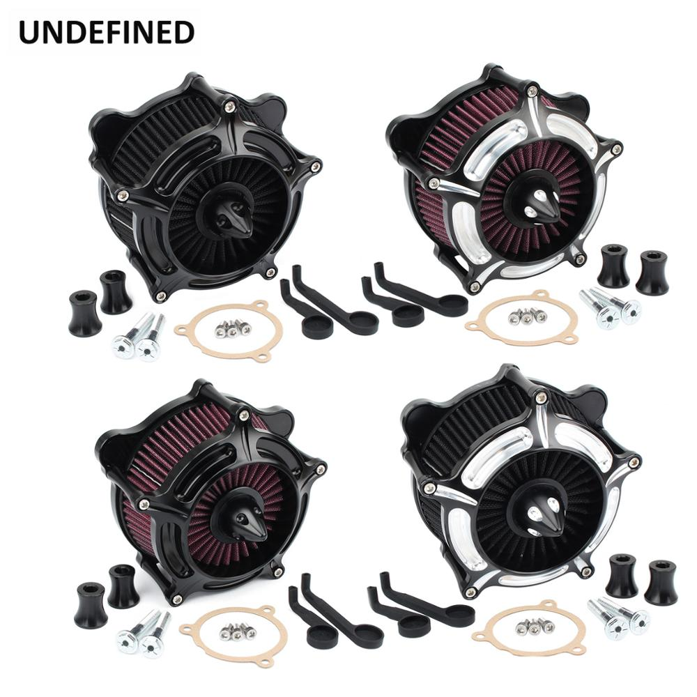 Motorcycle Air Filter Cleaner Spike Turbine Filters Intake Kit For Harley Touring Road King FLH FLTR 2017-2020 Softail FXST FLST