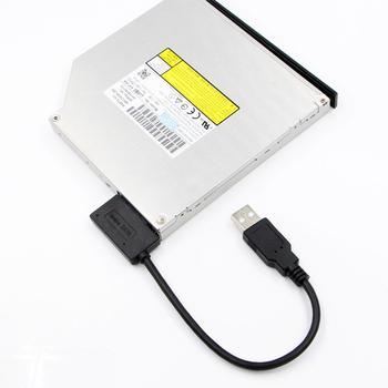 35cm USB Adapter PC 6P + 7P CD DVD Rom dysk twardy SATA na USB 2 0 konwerter Slimline Sata 13 Pin Adapter kabel dysku dla PC Laptop Notebook tanie i dobre opinie CN (pochodzenie) Przewody SATA NONE Dostępny w magazynie USB 2 0 480 (MB s) 0 35 (m) copper core