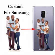 Phone Case Customize Print Picture Silicone Back Shell Personalized Cover For Samsung  A5 A6 A7 A8 A9 s Star Plus 2018