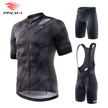 RION Men Cycling Jersey Set Mountain Bike Clothes Breathable Maillot Ciclismo Road Bike Shorts MTB Pro Cycling Wear
