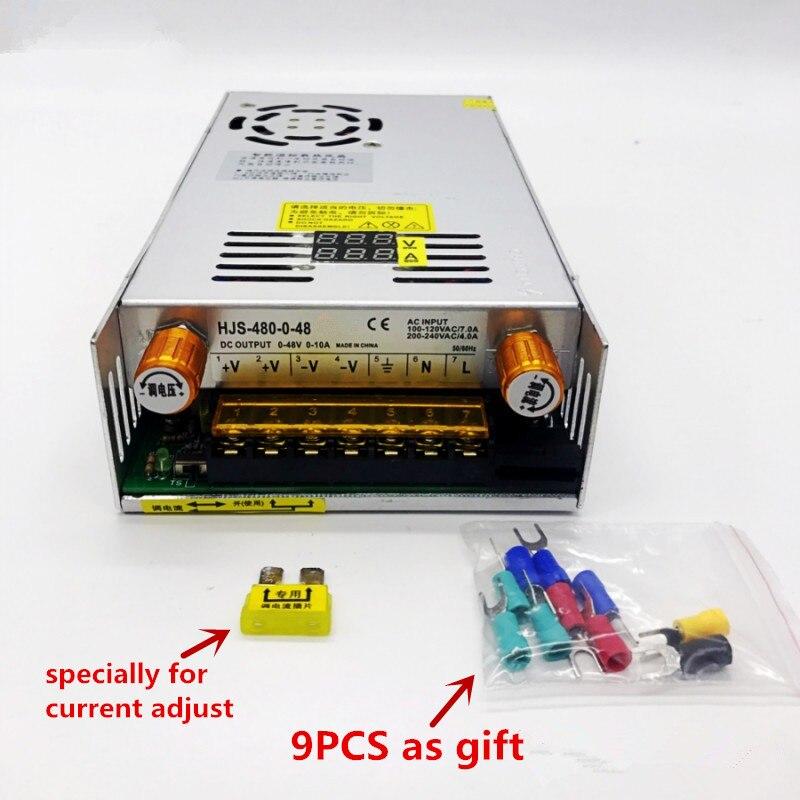 480w Digital display Switching Power Supply 5V12v 24v 36v 48v 60v 160V Adjustable AC-DC Converter 80v 120v 220V LED Power supply-5