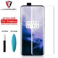 100D UV pegamento total de vidrio templado para el Oneplus 7 T Pro 1 + 1 + 7 Pro Protector de pantalla de vidrio UV película para Oneplus 7 Pro 1 + 1 + 7 Pro 1 + 7 T Pro