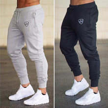 2019 Mode Mannen Sportscholen Broek Joggers Fitness Casual Lange Broek Mannen Workout Skinny Joggingbroek Jogger Trainingspak Katoenen Broek(China)