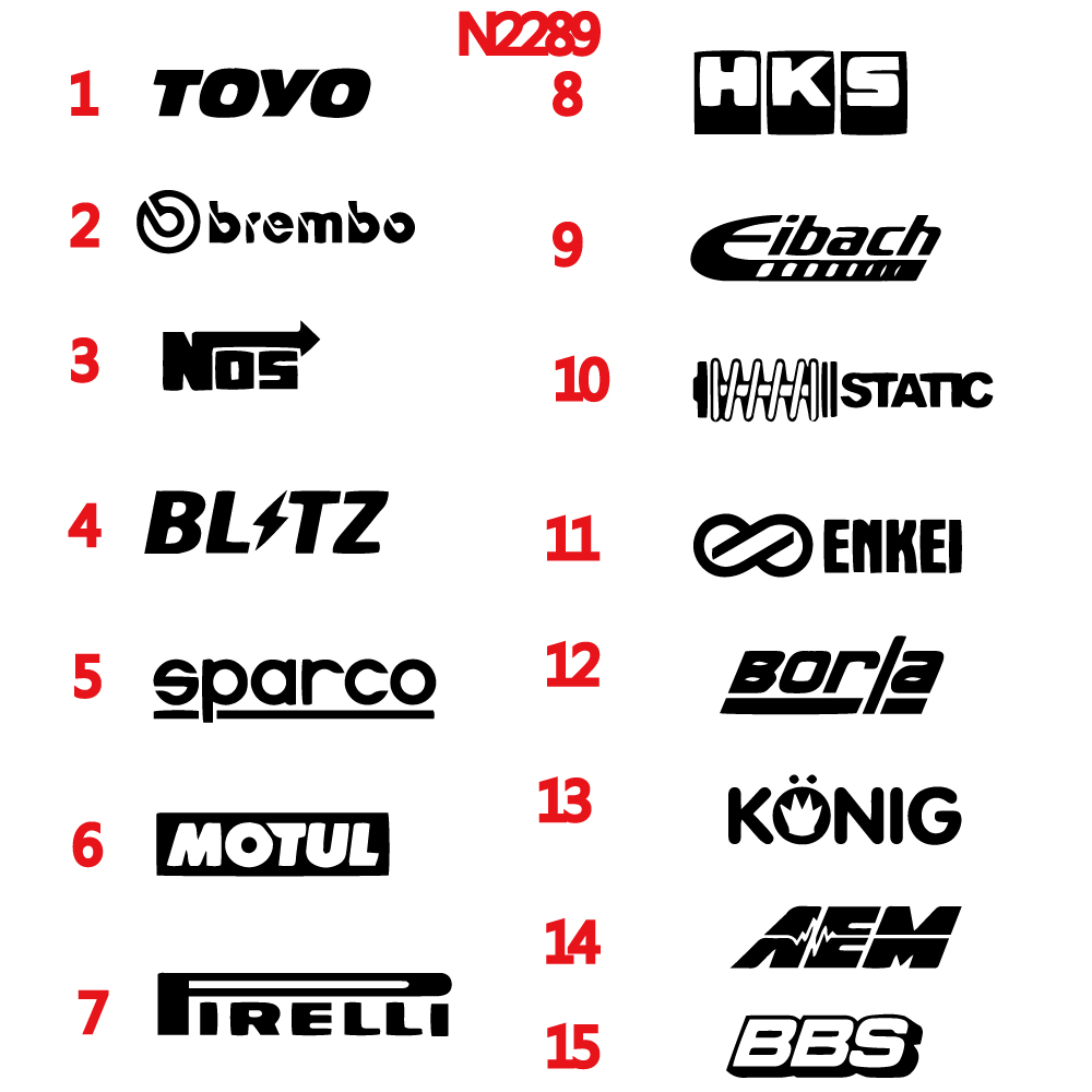 15 Style Colorful Automotive Sponsor Vinyl Decals JDM Car Racing Drift Sticker Auto Decal For Window Car Door Stickers Rear