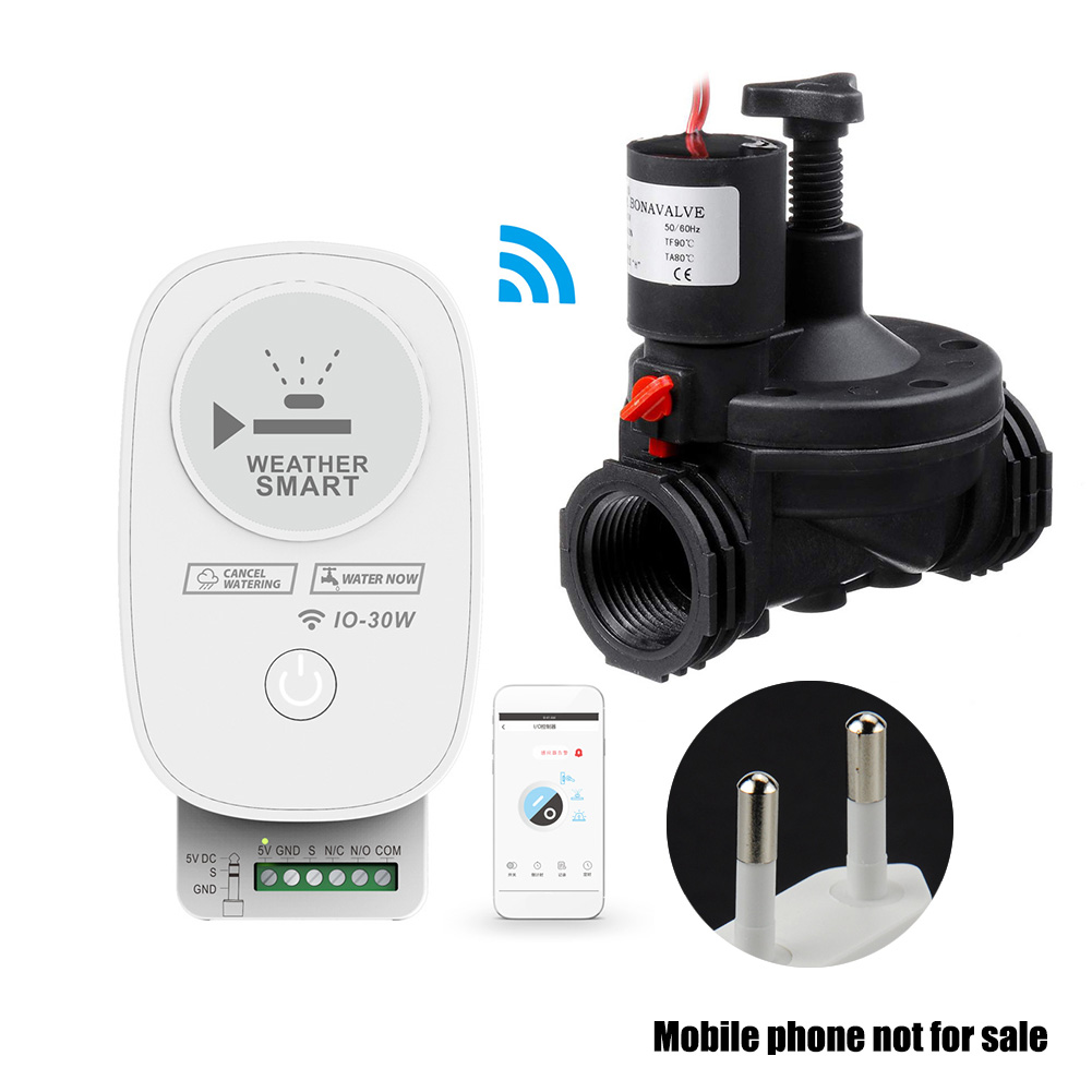 Easy Use Irrigation Valve APP Control ABS Lawn Sprinkler Automatic Home Electric Solenoid WIFI Smart Watering System Garden Yard