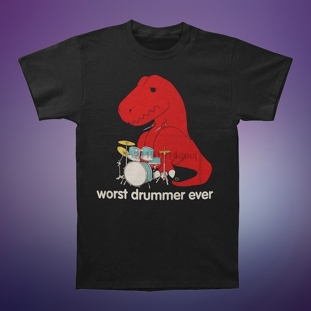 Worst Drummer Ever Men'S Humor Graphic T-Shirt 2019 image