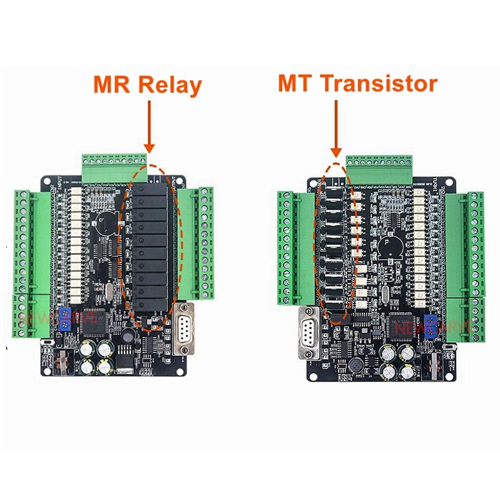 PLC Control Board,PLC Programmable Controller PLC Industrial Control Board FX3U-14MR 8 Input 6 Output Programmable Simple Controller