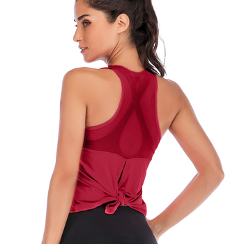 Yoga Mesh Shirts Vest Sport Tank Top Women Sleeveless Backless Cross Gym Top Athletic Fitness Vest Dry Fit T-shirt Workout Shirt fitness women top yoga shirts female sport gym top sport shirt women top yoga tank top fitness women clothing t shirt
