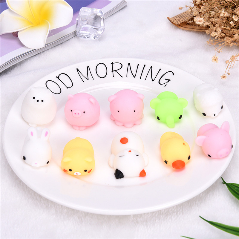 Toy Fidget Hand-Toy Animal Cute Kawaii Gift Rising Slow Random-Lot Baby Adult Kids 10pcs/Bag