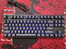 IKBC F108 F87 TKL clavier mécanique avec rétroéclairage à led bleu, interrupteur cherry mx, rétroéclairage, marron, bleu et blanc