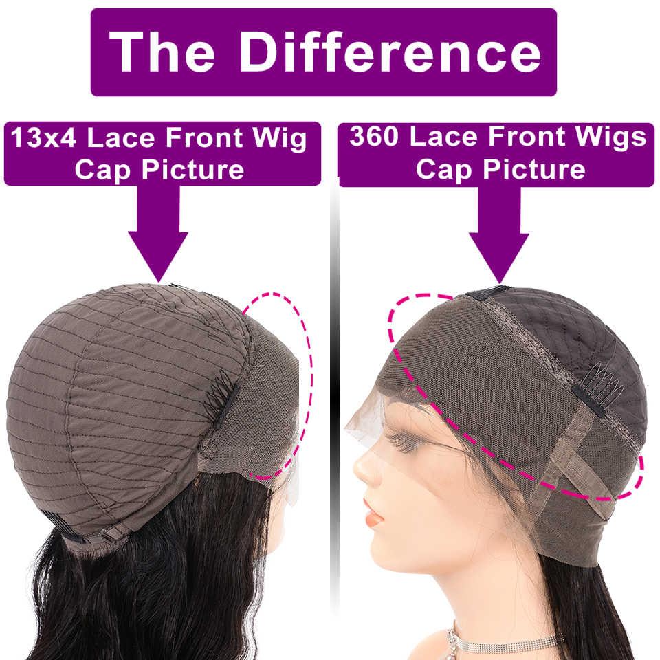 Onda profunda perucas de cabelo humano frente do laço perucas para preto pré-arrancado encaracolado perucas de cabelo humano remy brasileiro 360 laço peruca frontal