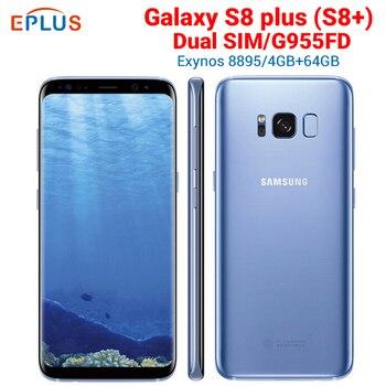 Перейти на Алиэкспресс и купить Новая глобальная версия samsung Galaxy S8 plus Duros S8 + G955FD мобильный телефон с двумя sim-картами 4 Гб 64 Гб Восьмиядерный 6,2 дюймNFC оригинальный 4G телефон