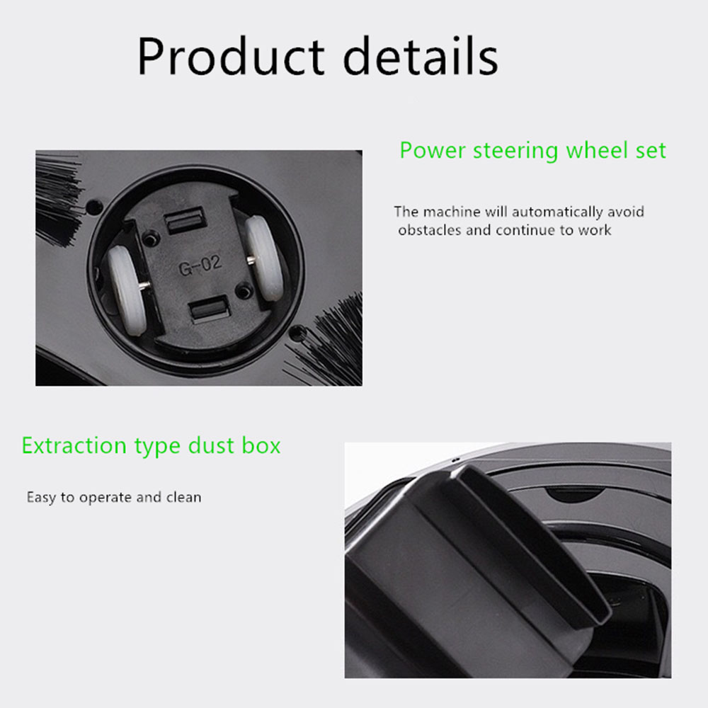 Intelligent Vacuum Cleaner 3 in 1 Anti-collision Floor Sweeper Colorful Light Automatic Robot Vacuum Cleaner Anti-fall Sensor