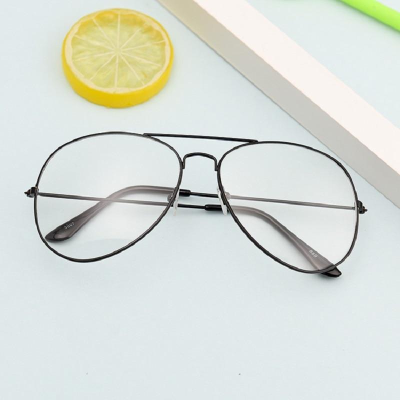 Fashion Sliver Black Gold Glasses Frame Women Retro Round Computer Blue Light Eyeglass Frame Reading Eyewear Girl Eyeglasses