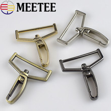 Meetee 38mm Plating Metal Bag Buckles Belts Handbag Strap Chains Snap Hooks Buckle Hardware Accessories H2-3