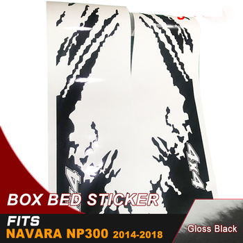 free shipping 4 PC side door rear trunk cool shark stripe graphic Vinyl sticker for NAVARA NP300 2015 2016