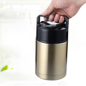 Image 2 - ONEUP Large Capacity 800ML/1000ML Double Stainless Thermos Lunch Box 2019 Vacuum Flasks Portable Lunch Bento Box Food Container
