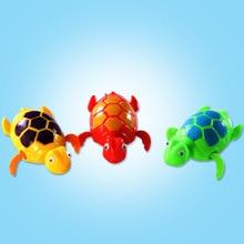 Детская игрушка для купания, заводная черепаха, игрушки для детей, для ползания, для купания, цепь для купания, Черепашки, милые забавные детские игрушки для купания, пластиковые игрушки