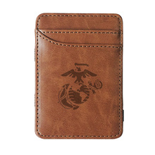 2019 New arrival Classic United States Marine Corps  leather magic wallets Fashion men money clips card purse cash holder the united states marine corps workout rev