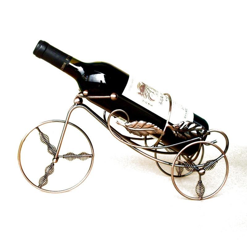 Storage-Racks Display-Stand Wine-Bottle-Holders Decorative-Cabinet Metal Red-Wine Rotatable