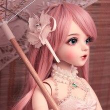 BJD 1/3 top eklemli bebek hediyeleri kız Handpainted makyaj fullset Lolita/prenses bebek giysileri ile MAN YU