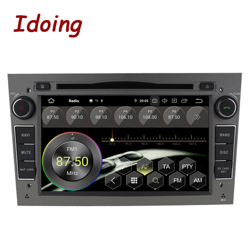 """Image 2 - Idoing 7""""2 din Andriod 9.0 Car Radio DVD Multimedia Player For Opel Vectra Corsa D Astra H PX5 4G+64G 8 Core IPS GPS NavigationCar Multimedia Player   -"""