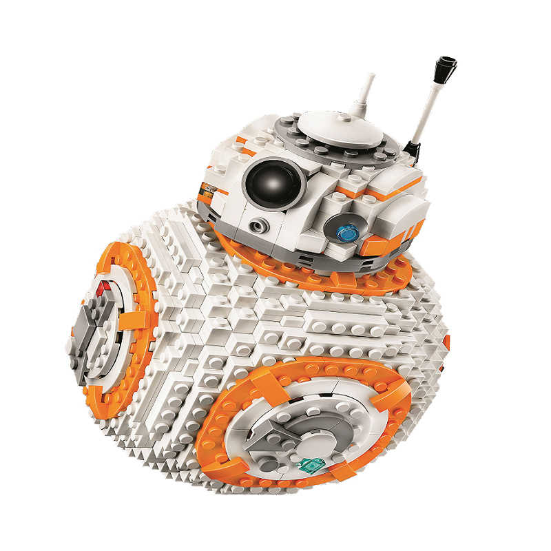 Bela 10906 serie Star Wars interestelar Detector de BB-8 edificio bloque 1106 Uds ladrillos juguetes Compatible con Legoinglys
