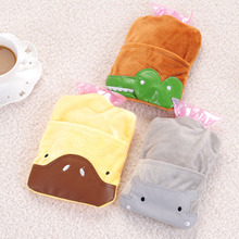 1PC Portable Water Hot Water Bottle Cute Cartoon Warm Handbags Children Flush Small Warm