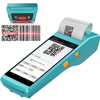 QS Handheld PDA Android 6.0 POS Terminal Touch Screen 2D Barcode Scanner Wireless Wifi Bluetooth GPS Reader Thermal Printer