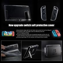 Clear Crystal Soft TPU Protective Case Cover Skin for Nintend Switch NS Controller Joy-Con Transparent Clear Shell(China)