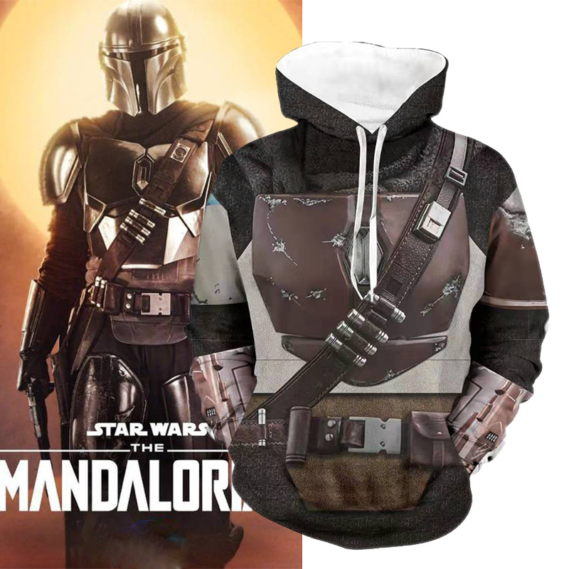 The Mandalorian Star Wars Cosplay Costume Sweater Jacket With Hat The Rise Of Skywalker Yoda Costumes Hoodie Top