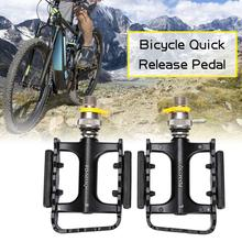 1Pair Quick Release Bicycle Pedal Ultralight Bike Cycle Pedal MTB Pedals Bearing Aluminium Alloy Mountain Bike Pedals mountain bike bicycle pedals cycling aluminium alloy pedals bicicleta mountain bicycle pedal flat xc tr am fr dh koozer pd50