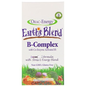 Orac-Energy, Earth's Blend, B-Complex with Co-Enzyme Activated B's, 60 pieces