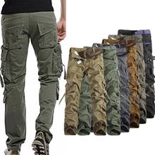 2020 Cargo spodnie spodnie wojskowe miasto taktyczne spodnie wojskowe mężczyźni SWAT Combat mężczyźni wiele kieszenie odzież bawełniana odporne spodnie joggery tanie tanio Proste CN (pochodzenie) Mieszkanie Luźne Pełnej długości W stylu Safari Lekki Suknem Zipper fly