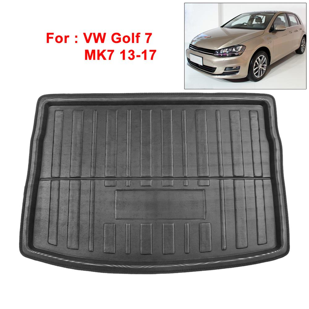Image 2 - UXCELL PE+EVA foam plastic Rear Trunk Boot Liner Cargo Mat Floor Tray Carpet for  VW Jetta Sedan Tiguan Golf 6 7 MK7 Polo 09 17
