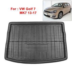 Image 2 - UXCELL PE+EVA foam plastic Rear Trunk Boot Liner Cargo Mat Floor Tray Carpet for  VW Jetta Sedan Tiguan Golf 6 7 MK7 Polo 09 17