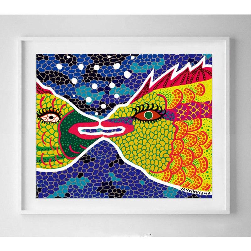 Yayoi Kusama Original taille Signature Version amour lointain Aquarium fruits de mer Restaurant salon peinture décorative M2155