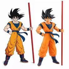 Figura de acción de Dragon Ball, modelo de figura de acción, Goku, Battle Version, 18CM, carcasa de coche, modelo DBZ, juguete para regalo, colección de escritorio, adornos Figma