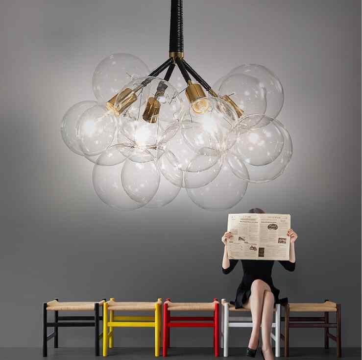 הפוסטמודרנית מינימליסטי יצירתי סלון שן הארי נברשת זכוכית כדור מסעדת קפה creative בגדי חנות נברשת